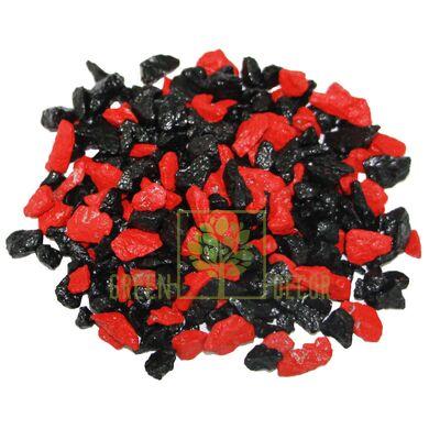 Декоративный щебень для клумб  20 кг Микс черно-красный