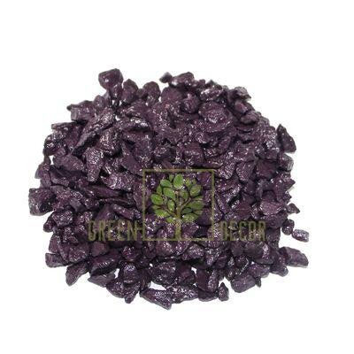 Декоративные камни 3 кг фиолетовые