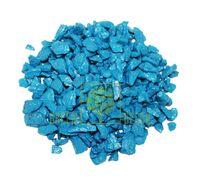 Декоративный щебень 20 кг голубой