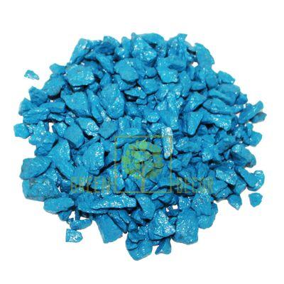 Декоративный щебень для клумб  20 кг голубой