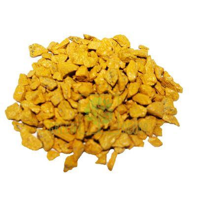 Декоративные камни 1 кг желтые