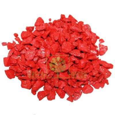Декоративный щебень для клумб  20 кг красный