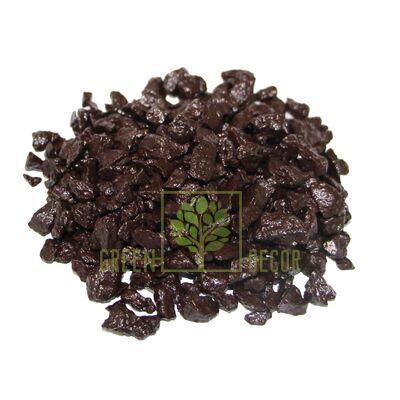 Декоративный щебень для клумб  20 кг коричневый