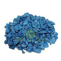 Декоративные камни 1 кг синие