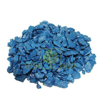 Декоративные камни 0,5 кг синие