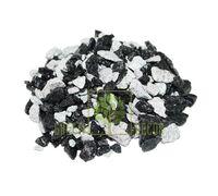 Декоративные камни 1 кг микс-зебра