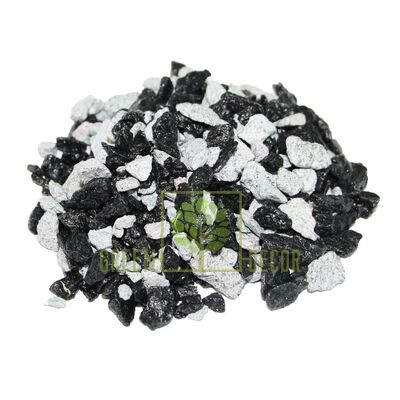 Декоративные камни 0,5 кг микс-зебра