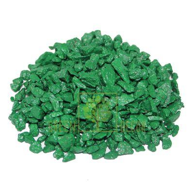Декоративные камни для цветов 3 кг зеленые