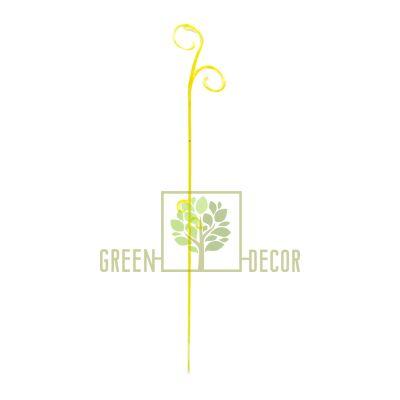 Опора для орхидей желтая 61 см