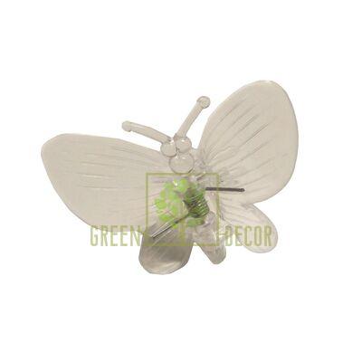 Зажим для орхидей Бабочка прозрачный