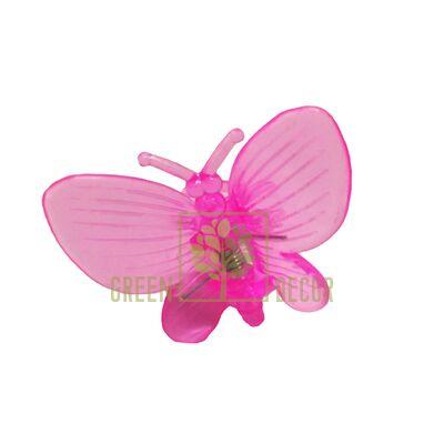 Зажим для орхидей Бабочка розовый