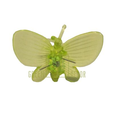 Зажим для орхидей Бабочка зеленый
