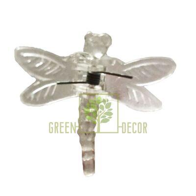 Зажим для орхидей Стрекоза прозрачный