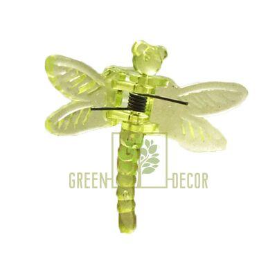 Зажим для орхидей Стрекоза зеленый