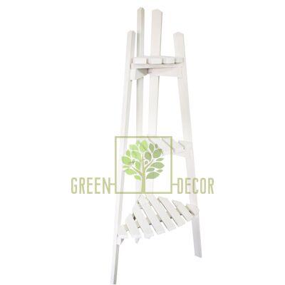 Подставка для цветов угловая Альпийская белая