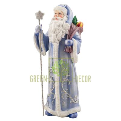 Новогодняя фигурка Дед мороз с посохом