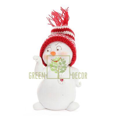 Фигурка новогодняя Снеговичок 11 см
