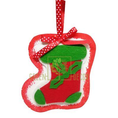Рождественская Подвеска на елку С носком  12 см