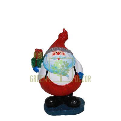 Новогодняя фигурка Санта с подарком