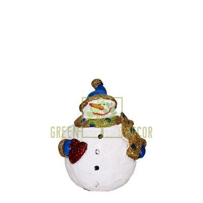 Новогодняя фигурка Снеговичек с сердцем mini