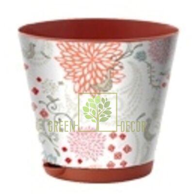 Горшок для цветов КРИТ 3,6 л с системой прикорневого полива по СУПЕР цене!