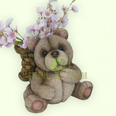 Кашпо для цветов Мишка с рюкзачком по СУПЕР цене!