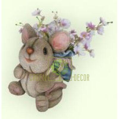 Кашпо для цветов Мышка с рюкзачком